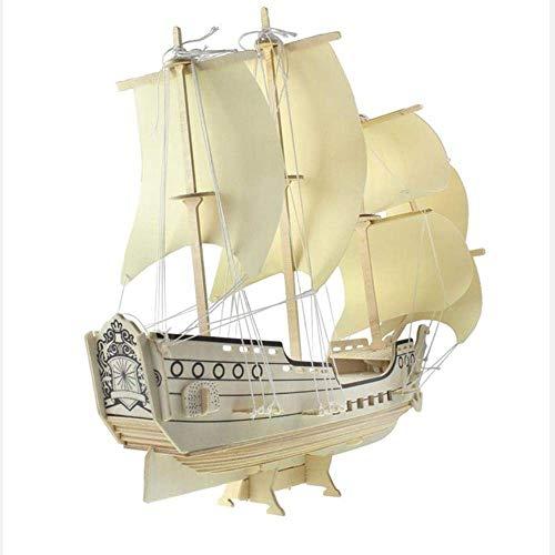 1yess Dekoration Holzsegelboot Modell Desktop-Ornament Desktop-Dekoration Handgemachte Holz C0Rafts