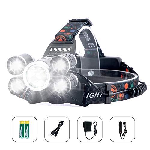 Arzopa Linterna Frontal Recargable LED Alta Potencia