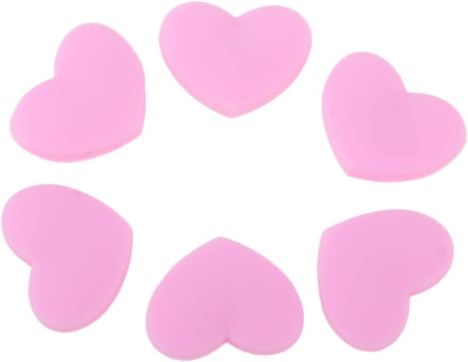 CUTICATE Pack of 6 Pink Heart Tennis Damper Racket A Shape OFFicial shop Shock Limited Special Price
