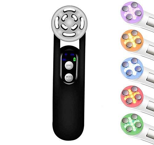 SEESEE.U Ultraschall-Schönheitsgerät, Rf-konstante Temperatur Rf/intelligente 5-Farben-Licht- / Mikrowellen-Vibrationsmassage für die Hautpflege Gesichtsreiniger Anti-Aging-Anti-Falten