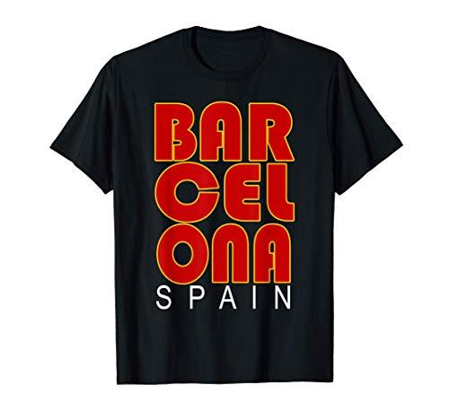 Barcelone Espagne Drapeau Europe Destination Souvenir T-Shirt