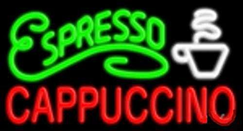 "Super Bright Store Retail Restaurant Business Office LED neon Sign 20"" x 12"" x 2"" - Espresso Cappuccino"