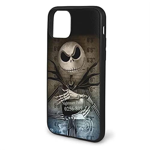 Carcasa blanda para iPhone 11 Pro Max-6.5, diseño de Jack Skellington antes de Navidad, color negro