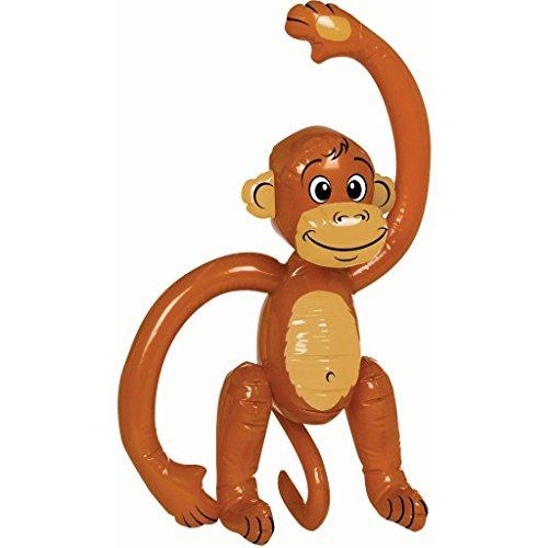 Gifts 4 All Occasions Limited SHATCHI-960 - Chimpancé hinchable para fiestas de disfraces, diseño de mono, color marrón