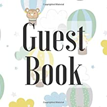 Guest Book: Hot Air Balloon Cute Scandi - Signing Guestbook Gift Log Photo Space Book for Birthday Party Celebration Anniversary Baby Bridal Shower ... Keepsake to Write Special Memories In