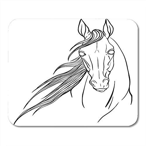 Muis Pads Hoofd Paard Portret Kleurplaten Tekening Volwassen Dier Antistress Book Mouse pad 25X30cm