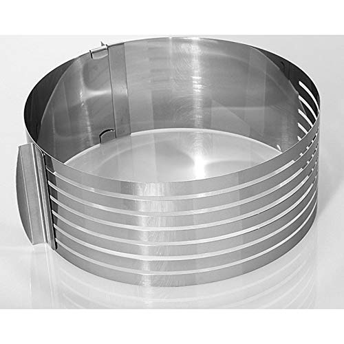 Appearantes Cake Slicer aus Edelstahl, verstellbar, Circular Layered Baking Tool Kit Silber