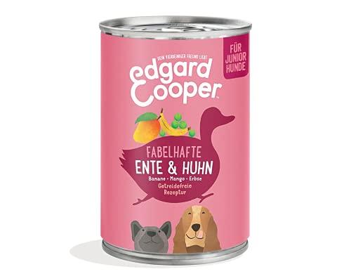 Edgard & Cooper natürliches Premium Nassfutter für Welpen in Dosen - 6 x 400g - Ente & Huhn - getreidefrei, hohe Qualität, Proteine & für EIN gesundes Wachstum