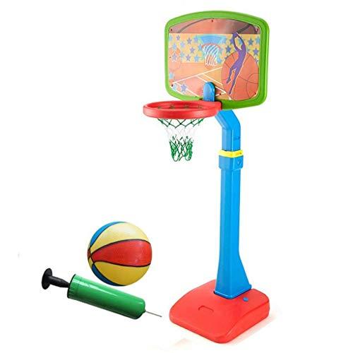 XIUYU Fitness Basketball Rahmen Abhebbarer Kinder-Basketball-Rack Startseite Innen Shooting-Rack im Freien beweglichen Bodenstehende Basketball-Rack (Color : Blue, Size : 44 * 49 * 230cm)