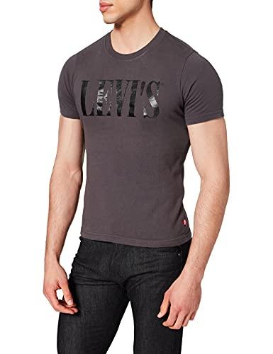 Levi's Relaxed Graphic Tee T-Shirt, Grey (90's Serif Logo Forged Iron 0045), Medium Uomo