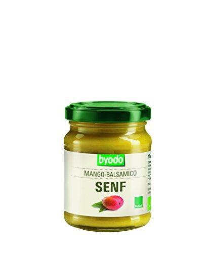 Byodo Mango Balsamico Senf, 3er Pack (3x 125 ml Glas) - Bio