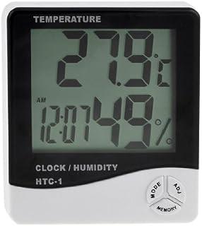 eDealMax Temperatura Clock LCD Digitale Max-Min Tester di umidità di igrometro