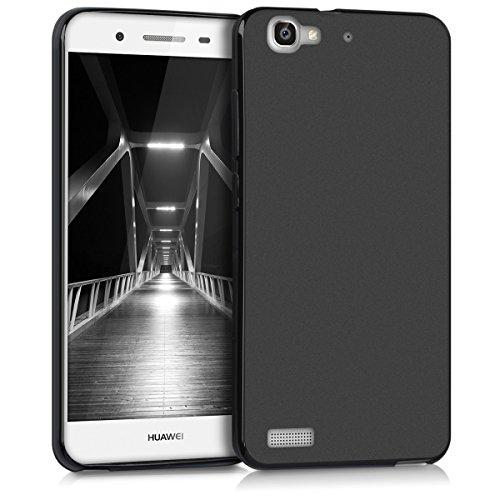 kwmobile Cover Compatibile con Huawei GR3 / P8 Lite Smart - Cover Custodia in Silicone TPU - Backcover Protezione Posteriore- Nero Matt