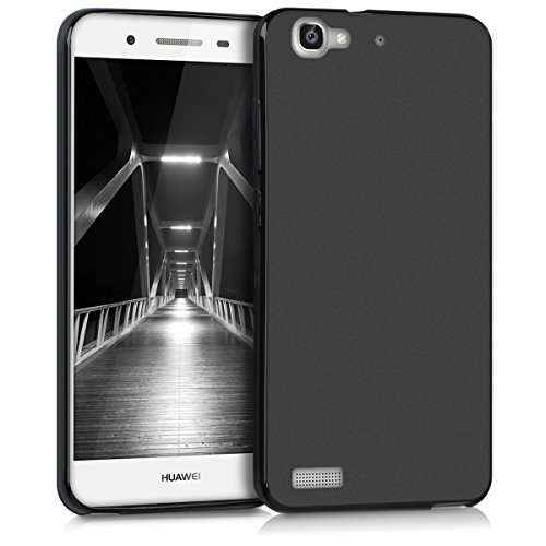 kwmobile Cover Compatibile con Huawei GR3 / P8 Lite Smart - Custodia in Silicone TPU - Backcover Protezione Posteriore- Nero Matt