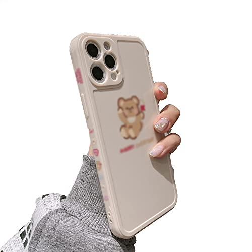 KJRJA para iPhone 11 Pro MAX 7 8 Plus XS MAX X XR 12 Mini Silicona Linda Bandera de Cuentas de Dibujos Animados Cubierta de La Caja del Teléfono Capa Pareja Shell,B-ForiPhoneXS