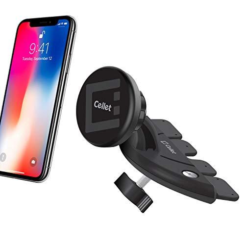 Cellet CD Slot Mount Car Phone Holder Cradle Compatible for Samsung Note 9 8 5 Galaxy S10 S10+ S9 S9 Plus S8+ S8 Active S7 J7 V J5 J3 V J1 A6 Grand Prime On5 Express 3 Amp Prime 3 S6 (CD Magnet)