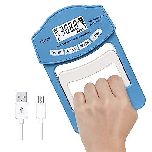 396 Lbs / 180 Kgs Power USB Grip Strength Tester, Digital...
