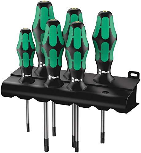Wera TORX® BO-Schraubendrehersatz 367/6 TORX® BO Kraftform Plus + Rack, 6-teilig, 05138250001