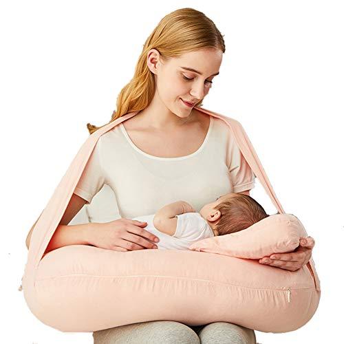 Baby GOUO@ Coussin d'allaitement Coussin d'allaitement pour bébé Coussin d'allaitement en Tissu Doux pour Femme Enceinte Oreiller pour bébé Ceinture pour Coussin d'allaitement Neonatology Sit Pillow