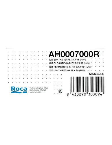Roca AH0007000R - Kit Junta Cierre 32 X 68 (1Un) Recambio - Colleción De Baño - Porcelana - Mecanismos
