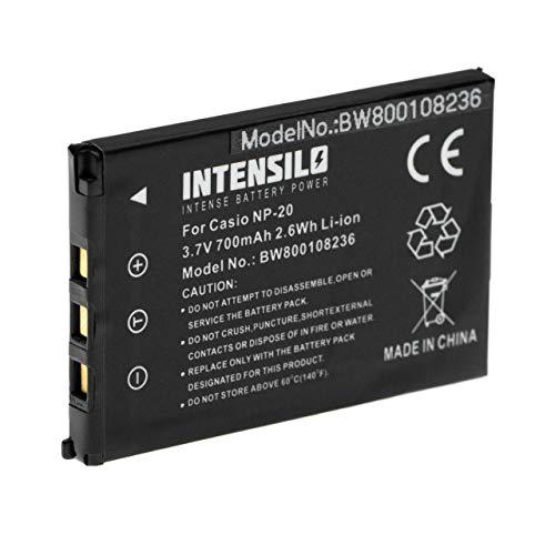 INTENSILO Li-Ion Akku 700mAh (3.7V) für Kamera Camcorder Video Casio Exilim EX-S770D, EX-S880, EX-Z11, EX-Z12, EX-Z3, EX-Z4, EX-Z5 wie NP-20.