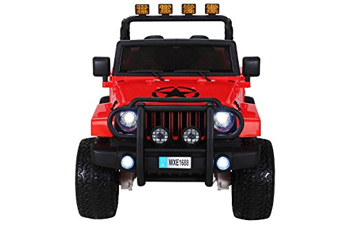 RC Auto kaufen Kinderauto Bild 2: Actionbikes Motors Kinder Elektroauto Wrangler Offroad Jeep ALLRAD 2-Sitzer 4 x 35Watt 2x10AH Batterie Eva Reifen 4x4 (Rot)*