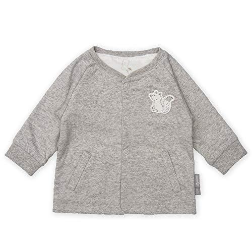 sigikid Baby-Unisex, Newborn Wendejacke,Weiß (grau melange), 50