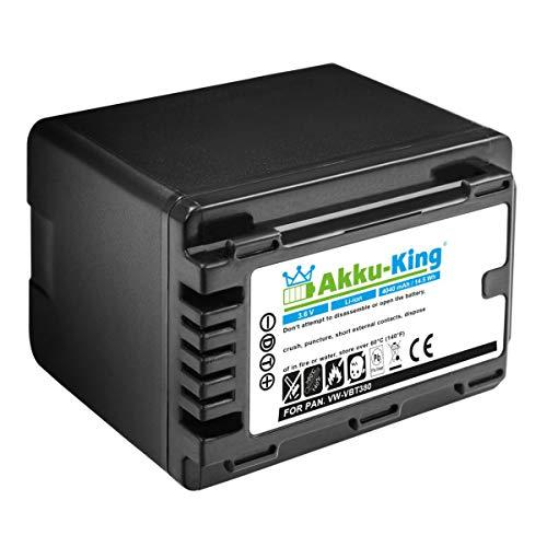 Akku-King Akku kompatibel mit Panasonic VW-VBT380 - Li-Ion 4040mAh - für HC-250EB, HC-V110, HC-W570, HC-V808, HC-WXF1, HC-WXF1M, HC-VXF1, HC-VXF11, HC-VX1
