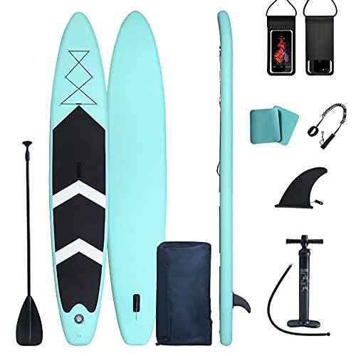 AIKEAIKESI Tabla de remo inflable de pie 320/380/420CM todos los accesorios incluidos tabla de paleta (420x76x15cm)