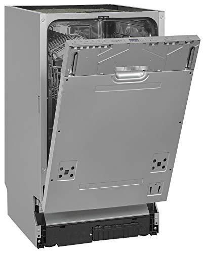 Exquisit Lavavajillas empotrable EGSP2109-E-030E, plateado, completamente integrado, 9 cubiertos, color plateado