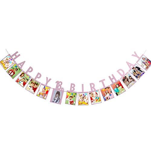 WZRQQ Alles- Goede voor verjaardagsfoto-vlaggen-slinger horizontale 16/18/21/30/40/50/60 jaar oude verjaardagsfeestdecoratie