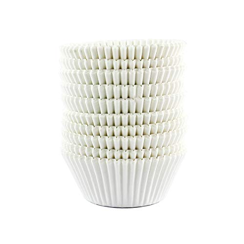 Warmparty Baking Cups Cupcake Liners, Standard Sized, 300 Count (White)