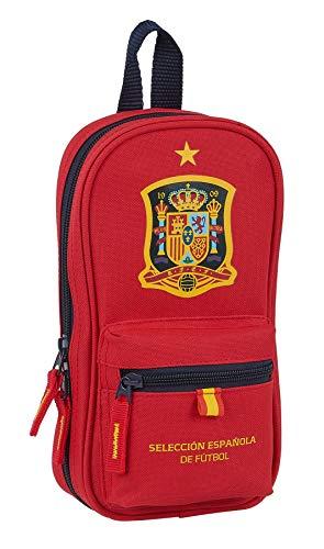 Neceser con 4 Estuches de Selección Española de Fútbol, Rojo, 120x50x230mm de...