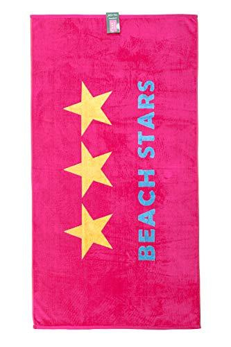 jilda-tex Strandtuch Beach Stars 90x170 cm Badetuch Strandlaken Handtuch 100% Baumwolle Velours Frottier Pflegeleicht