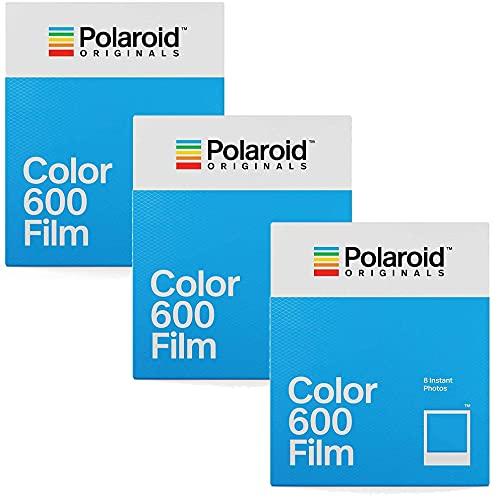Polaroid Originals 600 películas de color triple pack (24 disparos)