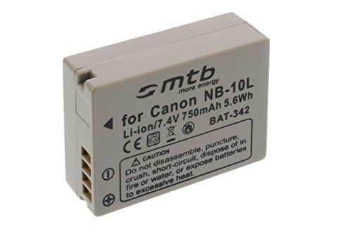 Batería NB-10L para Canon PowerShot G15, G1X, SX40 HS, SX50 HS. (Ver descripción)