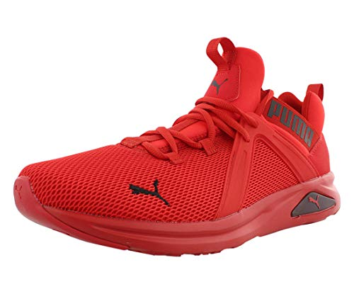PUMA Men's Enzo Sneaker, High Risk Red Black, 11 M US