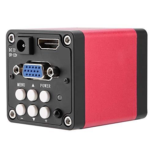 Telecamera per microscopio industriale 13MP 60F/S Telecamera per microscopio digitale con uscita VGA HDMI nero(Unione Europea)