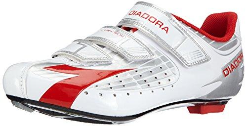 Diadora TRIVEX, Unisex-Erwachsene Radsportschuhe - Rennrad, Mehrfarbig (silber/weiß/rot 2746), 45 EU