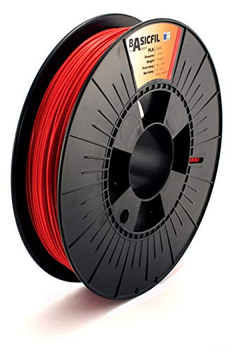 BASICFIL PLA 1.75mm, 500 gr, 3D printing filament , Red