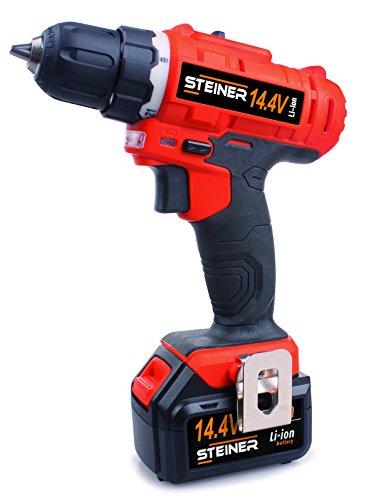 Steiner 290458 Taladro (14.4 V, con maletín y 160 accesorios)