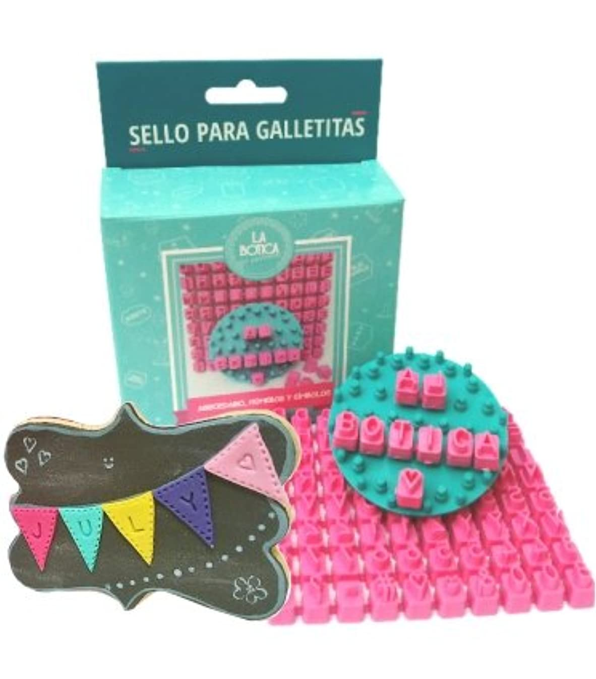 Cookie & Fondant Stamper - pro Customizable Set with Separate Letters Numbers and Symbols - Create Personalized Messages