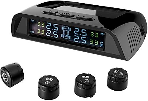 GreenGee タイヤ空気圧センサー タイヤ空気圧モニター 日本語警報音 TPMS IP67防水防塵 即時気圧温度測定 ...