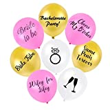 Funny Bachelorette Party Balloons Bridal Shower Decor | Pack of 16 | Pink White & Gold Bride Balloon Bachelorette Party Favors Naughty Supplies & Decorations | Bachelor Gag Gifts Adult Penis Favor