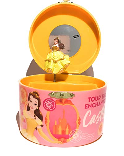 Disney Princess Beauty and The Beast Belle Round Musical Jewelry Box