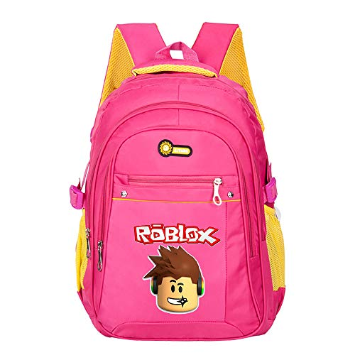 Roblox Multifunctional British Style Children's School Bag Kindergarten Bag Backpack Bag Preschool Class Bag Kids (Color : Red01, Size : 30 X 19 X 45cm)