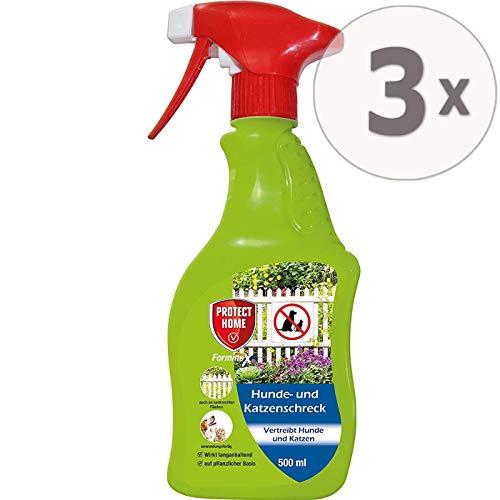 Protect Home Hunde- und Katzenschreck anwendungsfertiges Spray, Sparpack 2 x 500 ml Plus Zeckenzange mit Lupe
