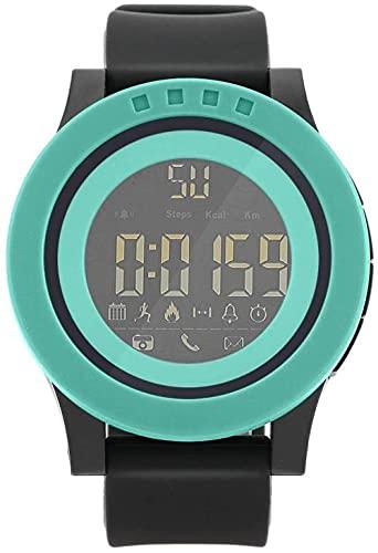 JZDH Mano Reloj Hombres mira Relojes de muñeca Hombres Masculino Deportes Digital Reloj Impermeable Soporte Bluetooth Control Remoto Regalos Cian Relojes Decorativos Casuales