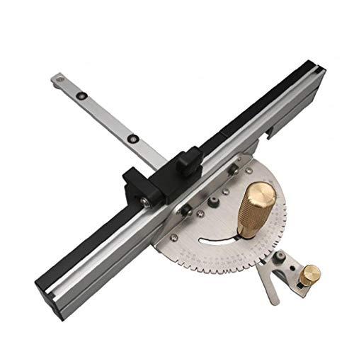 Precision Tischsäge Gehrungslehre Gehrungsanschlag für Tabelle Sägeanordnung Lineal Winkelmesser 450 mm