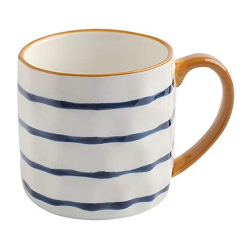 Taza De Café Para Hombre Juego De 4 Piezas Taza De Té 11 Oz Utensilios De Cocina Copa De Vino Taza Reutilizable Taza De Café Con Leche Adecuada Para Té ( Color : White2 , Size : 11.8*8.3*8.5cm )